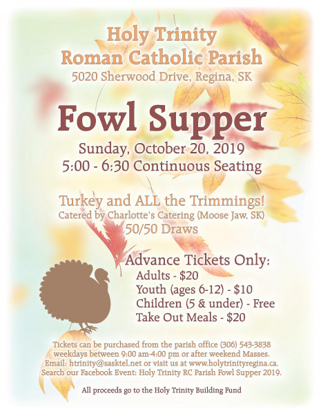 Fall Turkey Supper Poster